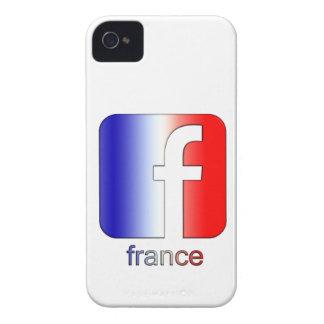 Plantilla única del regalo del logotipo de Francia Case-Mate iPhone 4 Fundas