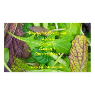 Plantilla vegetariana de la tarjeta de visita de