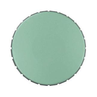 Plantilla verde clara del espacio en blanco de la  latas de dulces