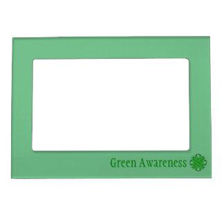 Plantilla verde de la cinta del trébol marcos magneticos