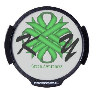 Plantilla verde de la cinta del trébol