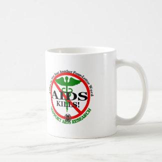 Plantilla verde de la taza del SIDA