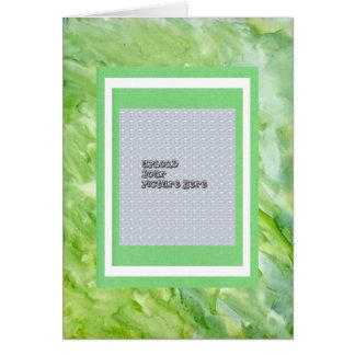Plantilla verde del álbum de la imagen del extract tarjeta de felicitación