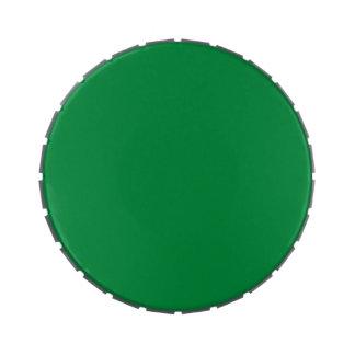 Plantilla verde del espacio en blanco de la tenden latas de caramelos