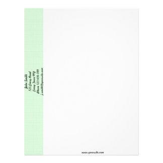 Plantilla verde del papel con membrete del panal membrete a diseño