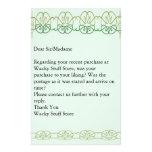 Plantilla verde inmóvil papelería personalizada