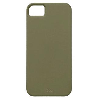 Plantilla verde oliva del espacio en blanco de la  iPhone 5 Case-Mate protector
