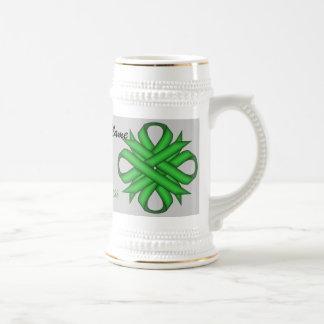 Plantilla verde Stein de la cinta del trébol Jarra De Cerveza