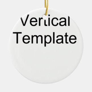 Plantilla vertical adorno navideño redondo de cerámica