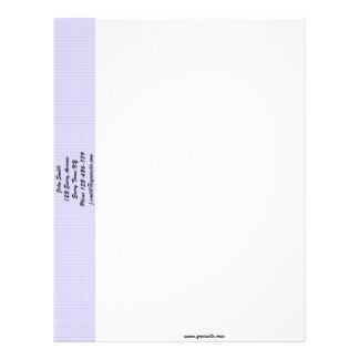 Plantilla violeta del papel con membrete del panal membrete