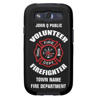 Plantilla voluntaria del nombre del bombero galaxy SIII coberturas