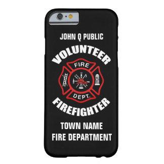 Plantilla voluntaria del nombre del bombero funda para iPhone 6 barely there
