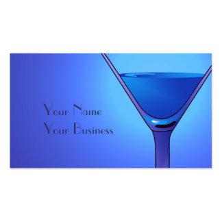 Plantillas azules de la tarjeta de visita del cóct