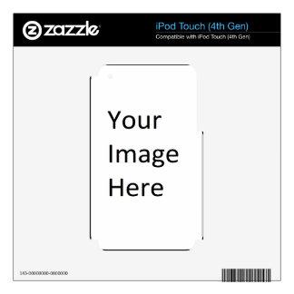 Plantillas blancos y negros del regalo iPod touch 4G skins