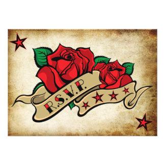 Plantillas de encargo de RSVP del tatuaje color de Invitación Personalizada