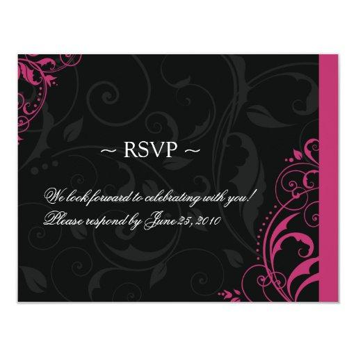 """Plantillas de la tarjeta de contestación del boda invitación 4.25"""" x 5.5"""""""