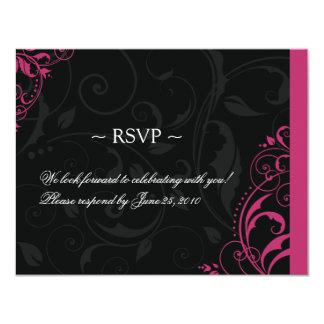 Plantillas de la tarjeta de contestación del boda anuncios personalizados