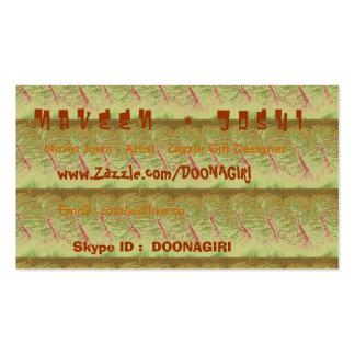 Plantillas de la tarjeta de NOVINO - tiras de oro Tarjetas De Visita