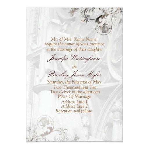 Plantillas de las invitaciones del boda de la anuncio personalizado