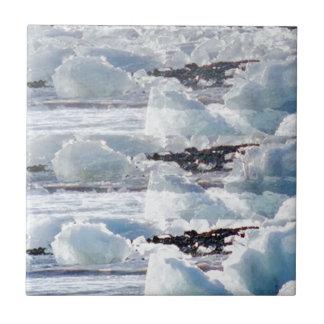 PLANTILLAS del TEXTO del fondo de la nieve de los Azulejo Cuadrado Pequeño