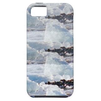 PLANTILLAS del TEXTO del fondo de la nieve de los Funda Para iPhone 5 Tough
