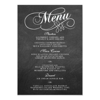 """Plantillas elegantes del menú del boda de la invitación 4.5"""" x 6.25"""""""