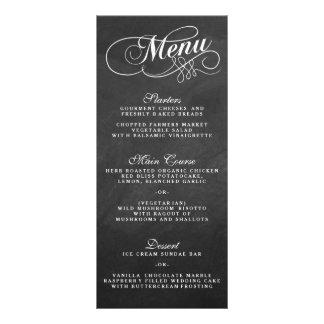 Plantillas elegantes del menú del boda de la lonas publicitarias