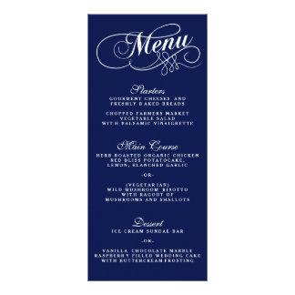 Plantillas elegantes del menú del boda de los lona personalizada