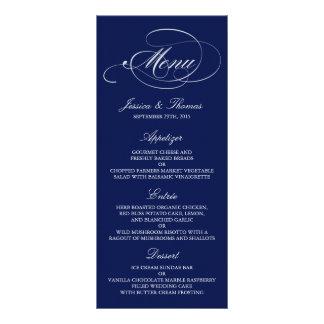 Plantillas elegantes del menú del boda de los tarjetas publicitarias personalizadas