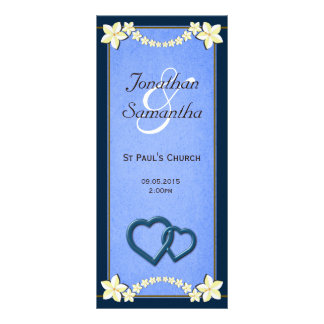 Plantillas florales azules rústicas del programa d diseño de tarjeta publicitaria