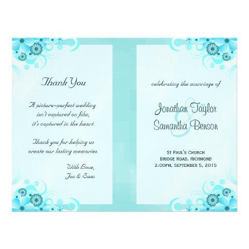 Plantillas florales del programa del boda del hibi tarjeta publicitaria
