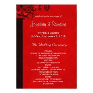 Plantillas florales del programa del boda del hibi comunicado