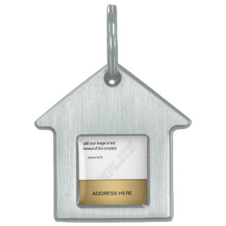 Plantillas metálicas de la etiqueta del nombre del placa mascota