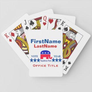 Plantillas republicanas barajas de cartas