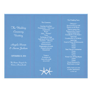Plantillas triples del programa del boda de las plantillas de membrete