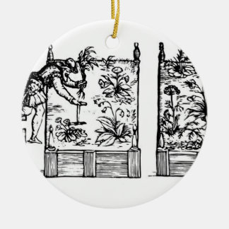 Planting in raised beds, from 'The Gardener's Laby Double-Sided Ceramic Round Christmas Ornament