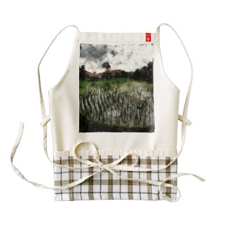 Planting in water zazzle HEART apron