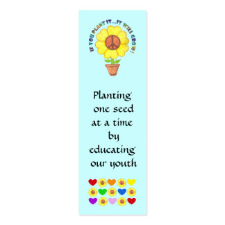 Planting Peace Bookmark Business Card Template