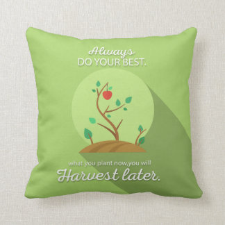Planting what you will harvest green flat design throw pillow