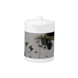 plants and morning shadows teapot