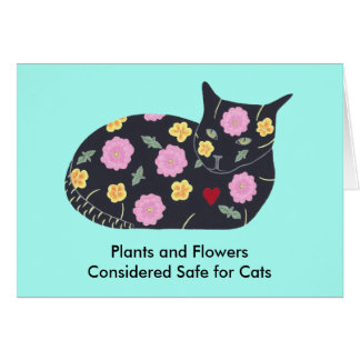 Plants Flowers Safe for Cats Custom Note Cards