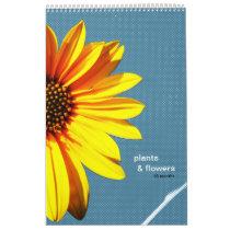 plants & flowers wall calendar