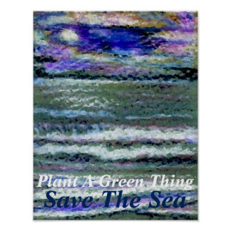 Plants Green Ocean Sea Poster Climate Change 8