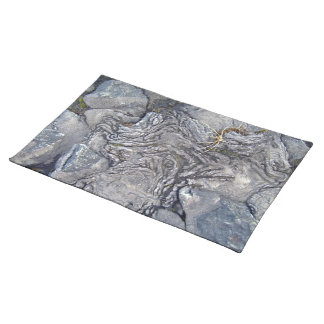 Plants Growing On Lava Rocky Surface Placemats