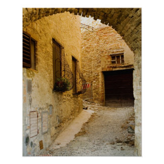 Plants in window boxes, San Gimignano, Siena Poster