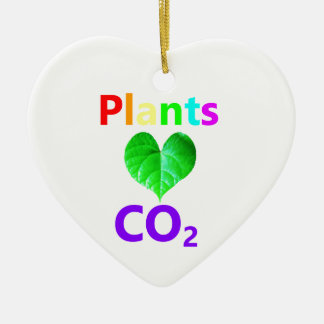 Plants Love CO2 Ceramic Ornament