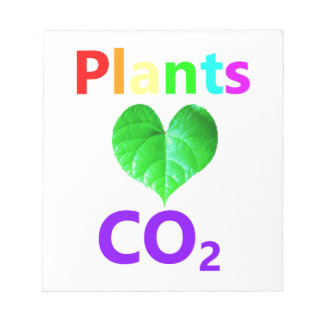 Plants Love CO2 Notepad