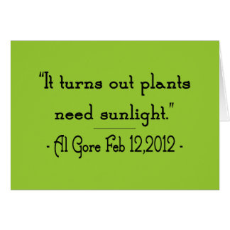 Plants Need Sunlight Card