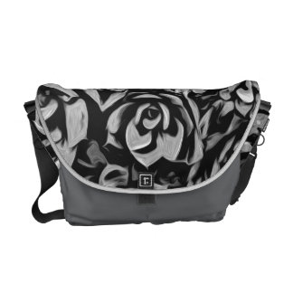 Plants of Black And White Courier Bag