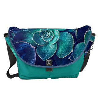 Plants of Blue And Green Courier Bag